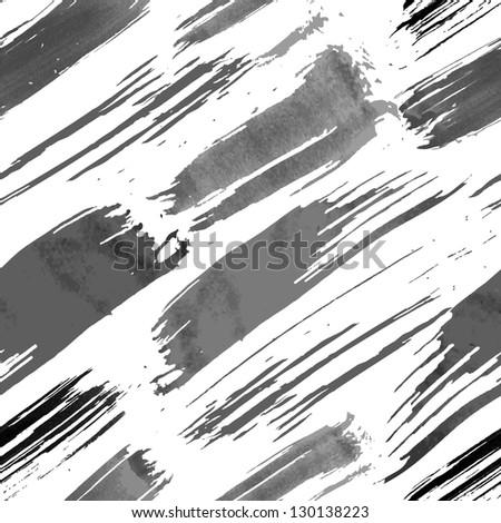 Grunge brushes seamless pattern - stock vector