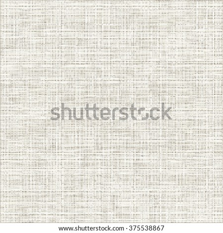 Grunge canvas texture. White fabric background. Abstract vector. - stock vector