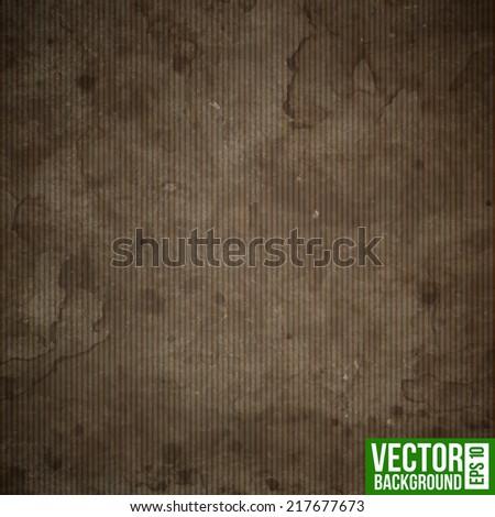 Grunge cardboard paper. Realistic vector texture - stock vector