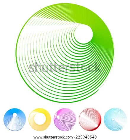 Grunge circle set - colorful circles - stock vector