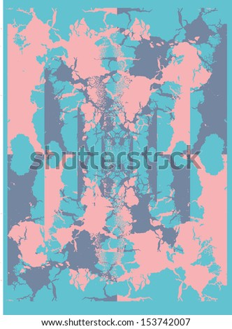 grunge crack pattern vector art - stock vector
