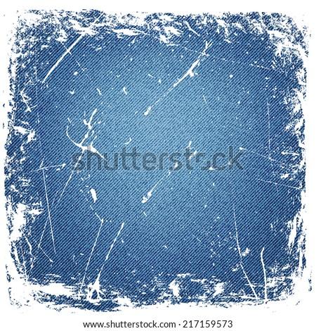 grunge denim background.vector illustration - stock vector
