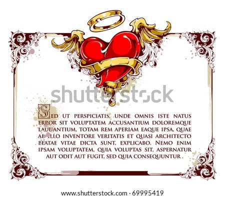 Grunge design of valentne's day card. Layered. EPS 10 vector illustration. - stock vector