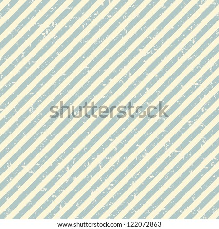 Grunge diagonal striped pattern in retro style - stock vector