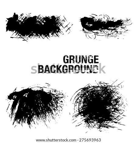 Grunge Elements - Illustration - stock vector