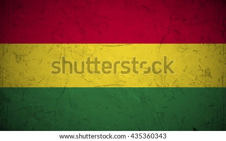 Grunge flag of Bolivia. - stock vector