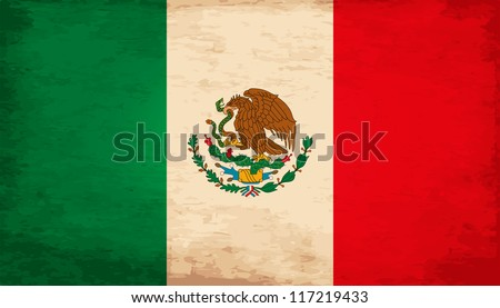 Grunge Flag Of Mexico - stock vector