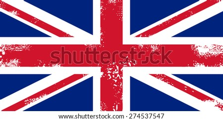 Grunge flag of United kingdom - stock vector