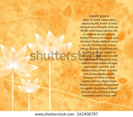 grunge flower background for your text - stock vector