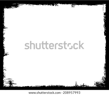 grunge frame, black, free copy space - stock vector