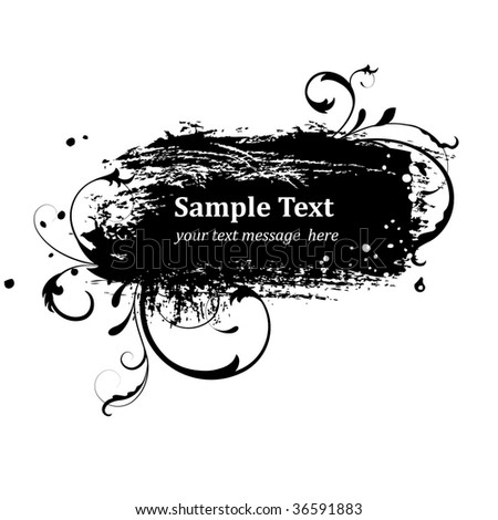 grunge frame for text messages - stock vector