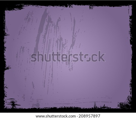 grunge frame, photographic negative picture frame, free copy space - stock vector