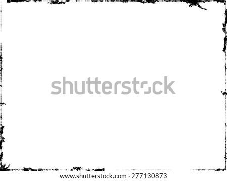 Grunge Frame Vector.  - stock vector
