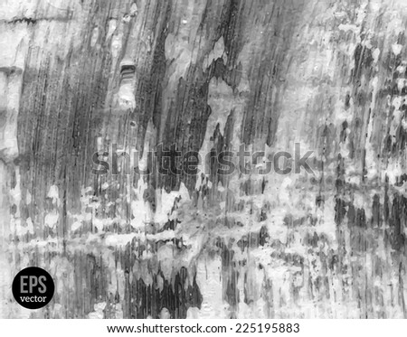 Grunge gray texture. Vector illustration. Painted background. Abstract backdrop. Concrete wall texture. - stock vector