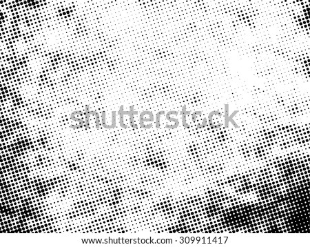 Grunge halftone dots . Halftone vector texture background . Dotted Abstract Vector Texture . Spotted Distress Dirty Damaged Dots Overlay Texture . Halftone Effect . Dotted Pattern  - stock vector