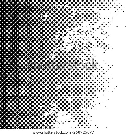 Grunge halftone dots vector texture background . Dotted Abstract Vector Texture . Distress Dirty  Damaged  Brush Overlay Texture .  - stock vector