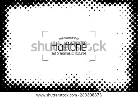 Grunge halftone frame - abstract texture. Stock vector design template - easy to use  - stock vector