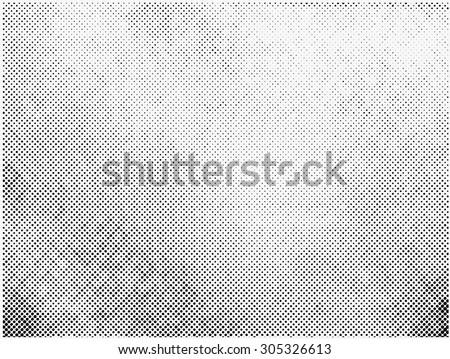 Grunge halftone vector background.Halftone dots vector texture. - stock vector
