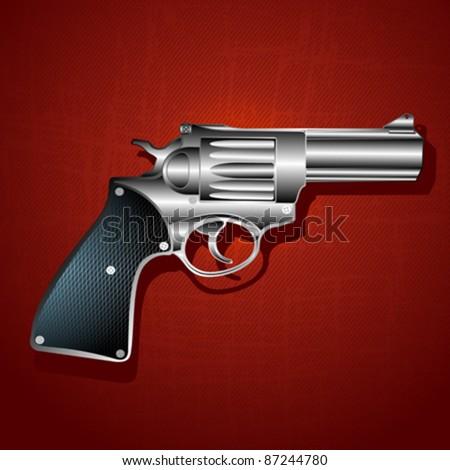 Grunge hand gun background, abstract art illustration - stock vector