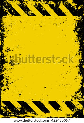 grunge hazard background - stock vector