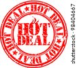 Grunge hot deal rubber stamp, vector illustration - stock vector