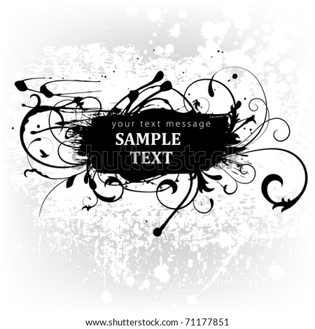 grunge label - stock vector