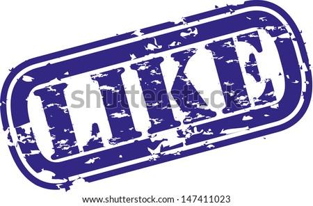 Grunge like rubber stamp, vector illustration - stock vector