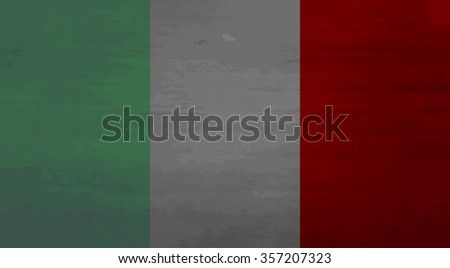 Grunge messy flag Italy. Patriotic country, damaged texture, weathered and government. Vector art design abstract unusual fashion illustration - stock vector