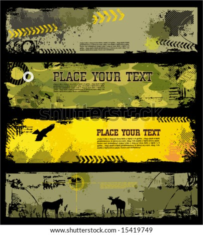 Grunge Military banners 2. To see similar, please VISIT MY GALLERY. - stock vector