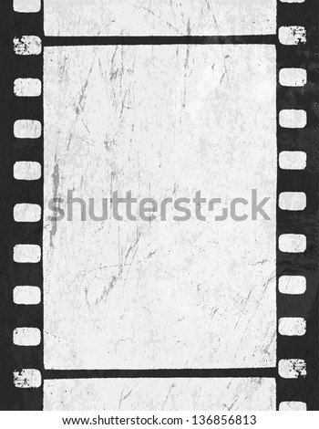 Grunge monochrome filmstrip with space for text . Vector - stock vector