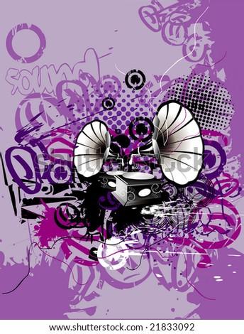 grunge music vector illustrator - stock vector