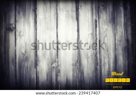 grunge old wood wall texture and background - stock vector
