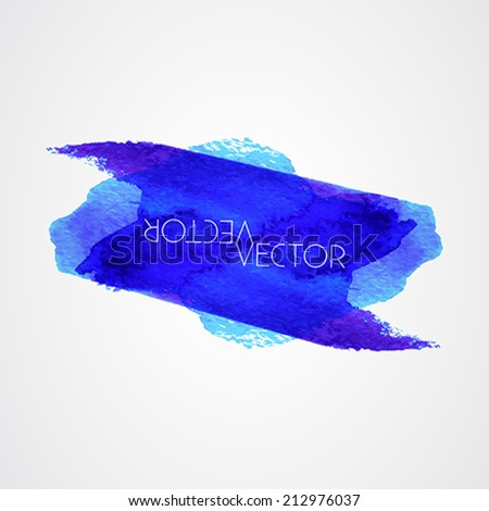 grunge paint stains - blue color - text grungy decoration effects - vector - stock vector