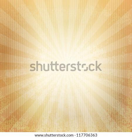 Grunge paper. Retro burst - stock vector