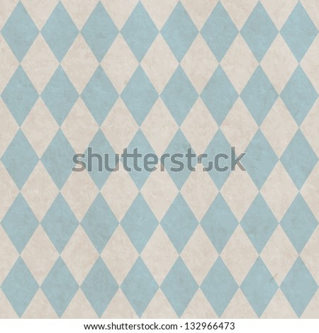 Grunge paper seamless pattern with rhombus geometric texture - stock vector