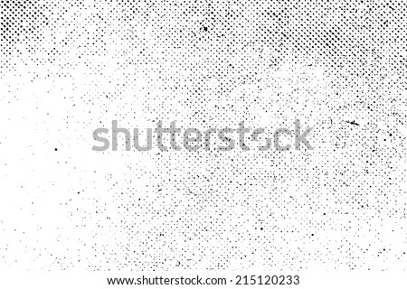 Grunge real organic vintage halftone vector ink print background - stock vector