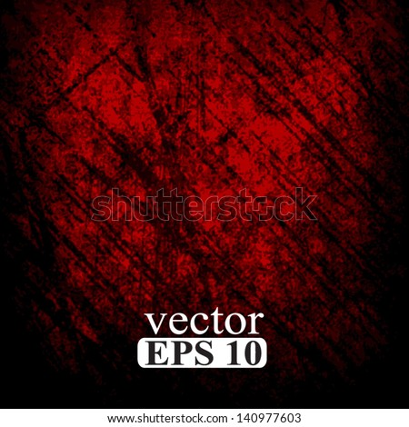 grunge red background - stock vector