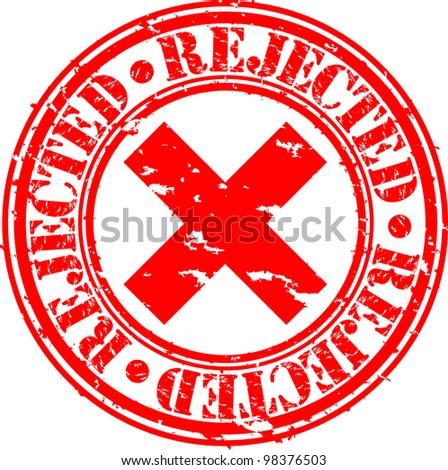 Grunge rejected rubber stamp, vector illustration - stock vector