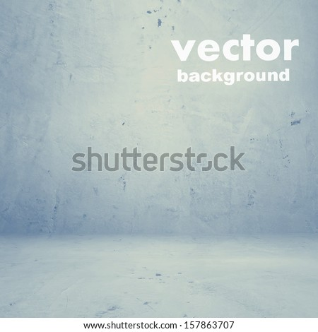 grunge retro vintage interior, vector background - stock vector