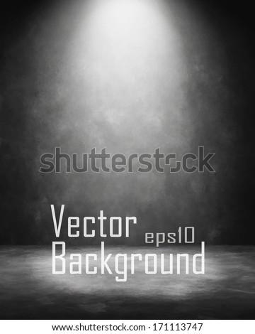 Grunge retro vintage interior. Vector background. - stock vector