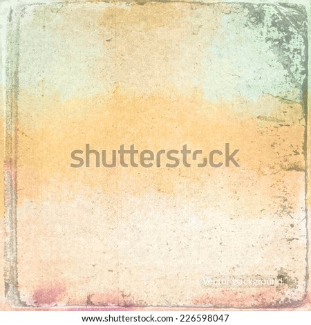 grunge retro vintage paper texture, vector background - stock vector