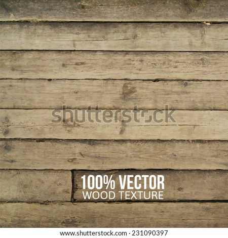 grunge retro vintage wooden texture, vector background, eps 10 - stock vector