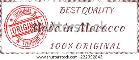 Grunge rubber stamp  Made in Morocco - stock vector