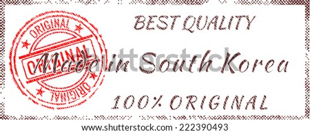 Grunge rubber stamp  Made in South Korea - stock vector