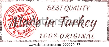 Grunge rubber stamp  Made in Turkey - stock vector