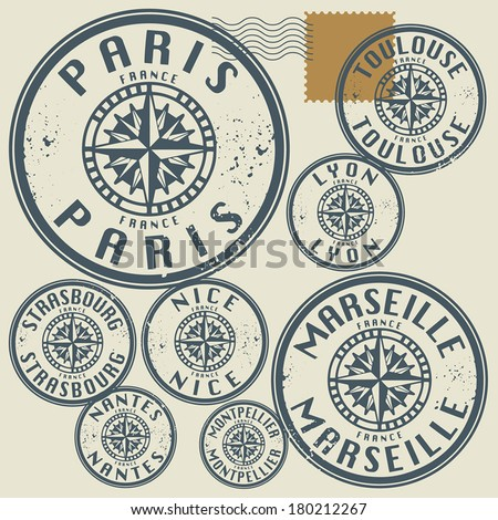 French Passport Stamp Stock Photos Images Amp Pictures