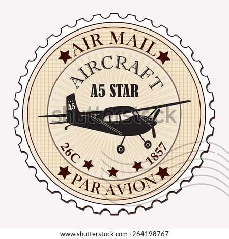 Grunge rubber stamp / Vector grunge air mail / Stamp design  - stock vector