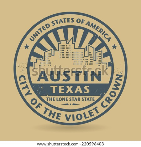 Grunge rubber stamp with name of Austin, Texas, vector illustration - stock vector