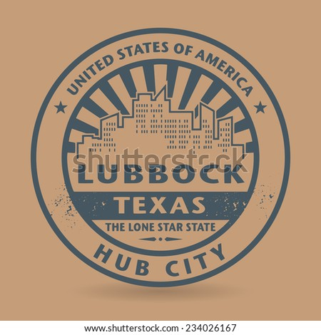 Grunge rubber stamp with name of Lubbock, Texas, vector illustration - stock vector