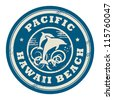 Grunge rubber stamp with name of Pacific, Hawaii, vector illustration - stock vector